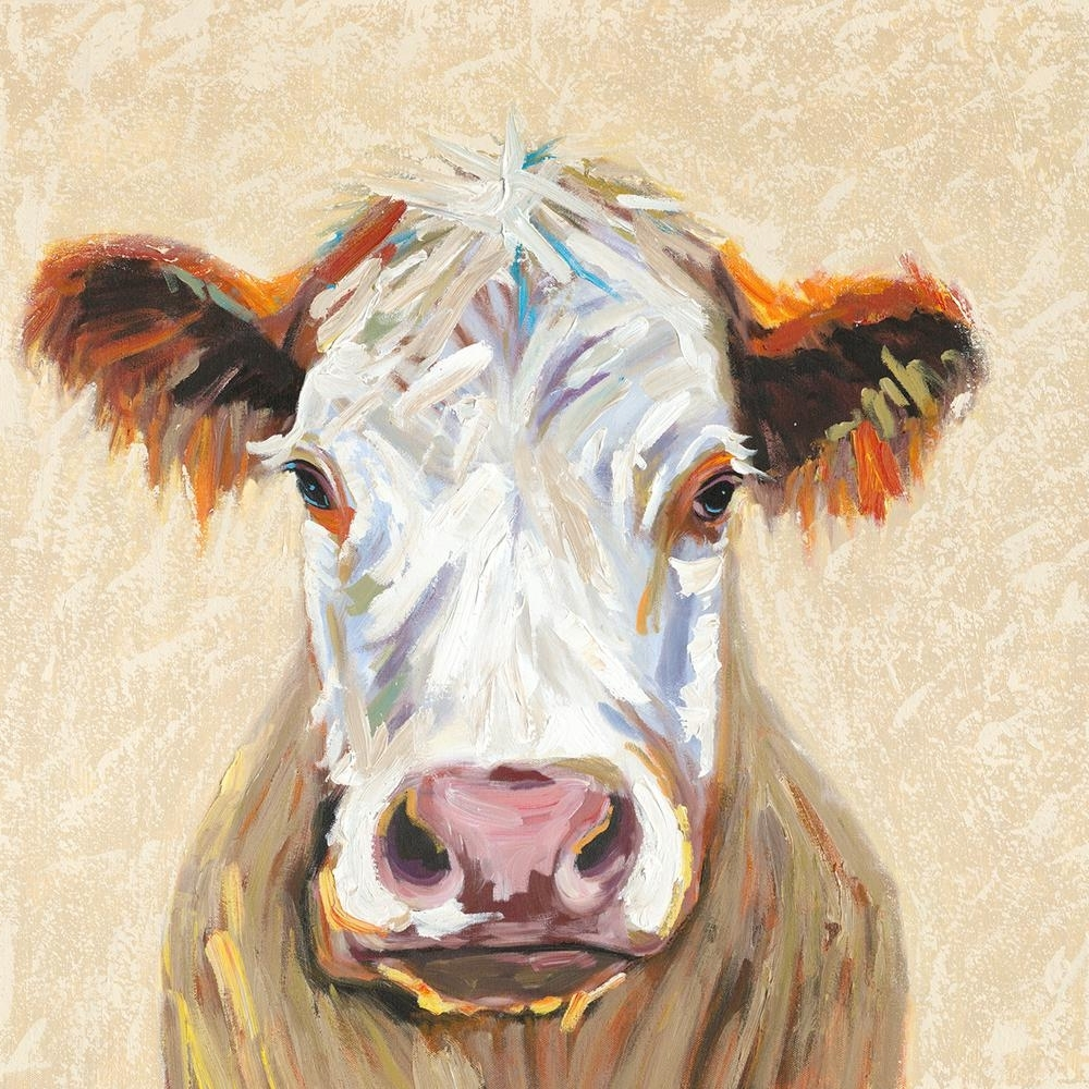 "Well Liked Cow Canvas Wall Art Inside Y Decor 36 In. X 36 In. ""hereford Cow"" Canvas Wall Art E0442 – The (Gallery 8 of 20)"