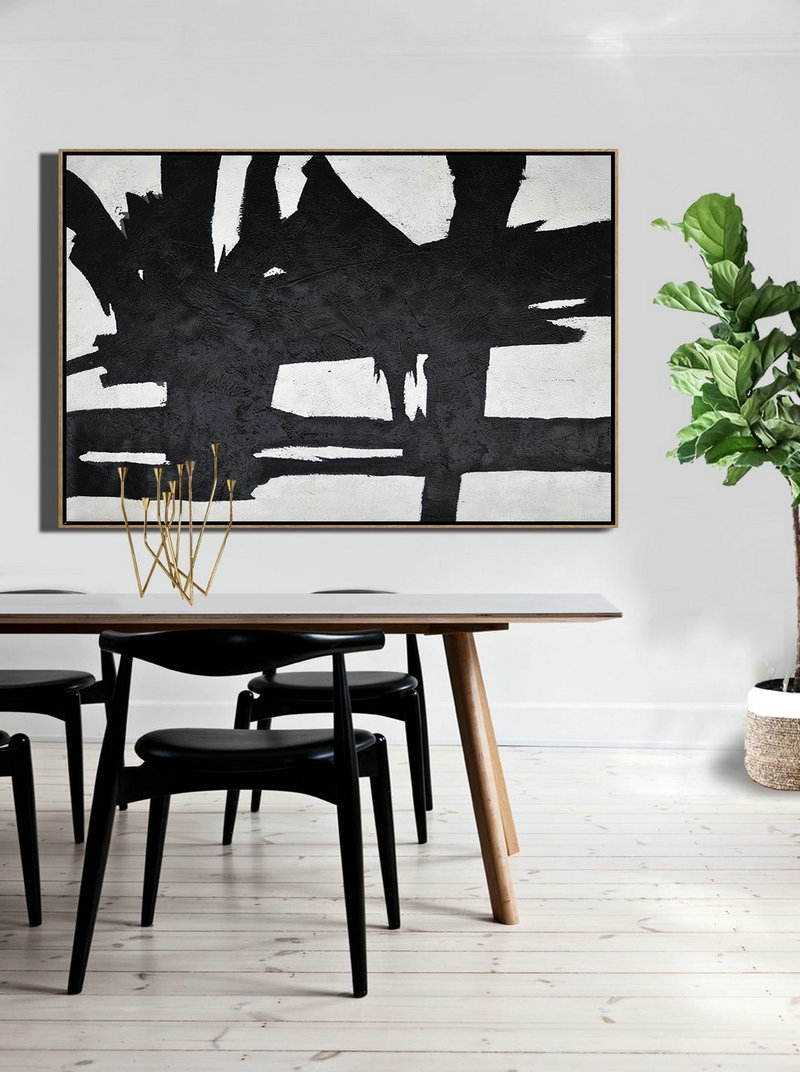 Well Liked Horizontal Wall Art Pertaining To Modern Wall Art,hand Painted Oversized Horizontal Minimal Art On (View 19 of 20)
