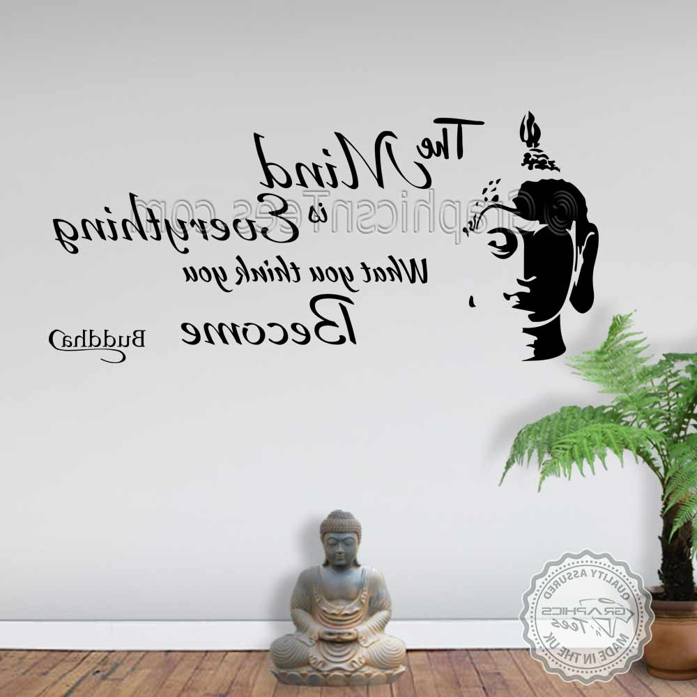 Well Liked Inspirational Wall Art Intended For The Mind Is Everything Buddha Inspirational Wall Sticker Quote Decor (View 13 of 15)