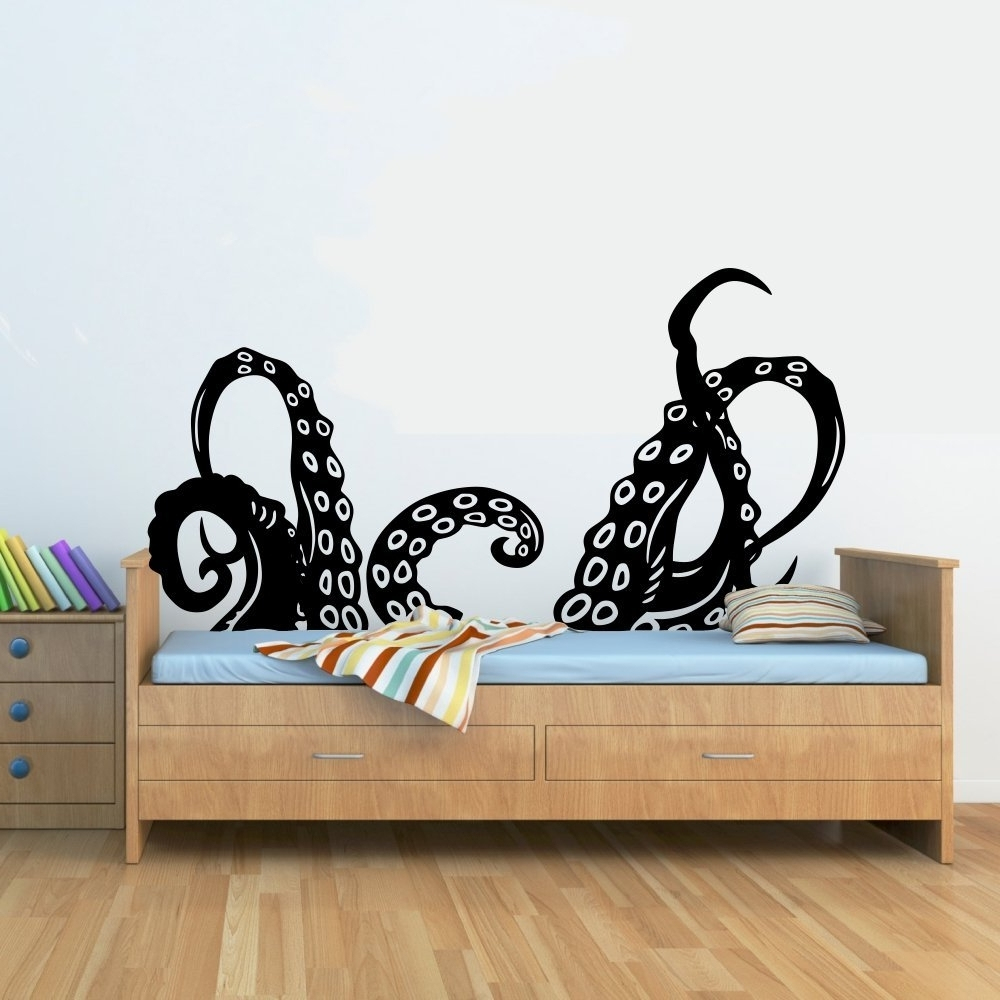 Well Liked Octopus Wall Art For Octopus Wall Decal – Culturehoop (View 18 of 20)