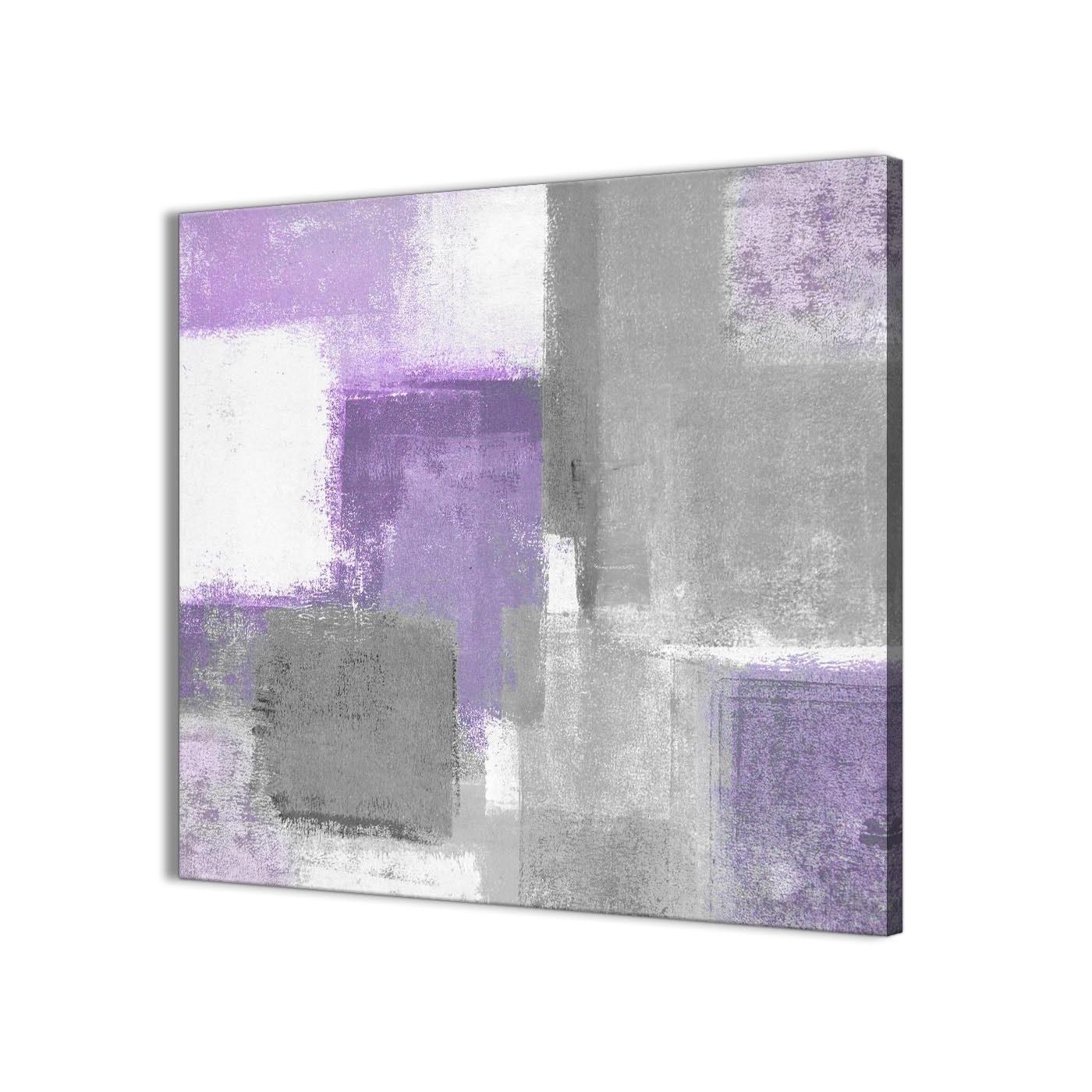 Well Liked Purple Grey Painting Bathroom Canvas Wall Art Accessories – Abstract Regarding Purple And Grey Wall Art (View 17 of 20)