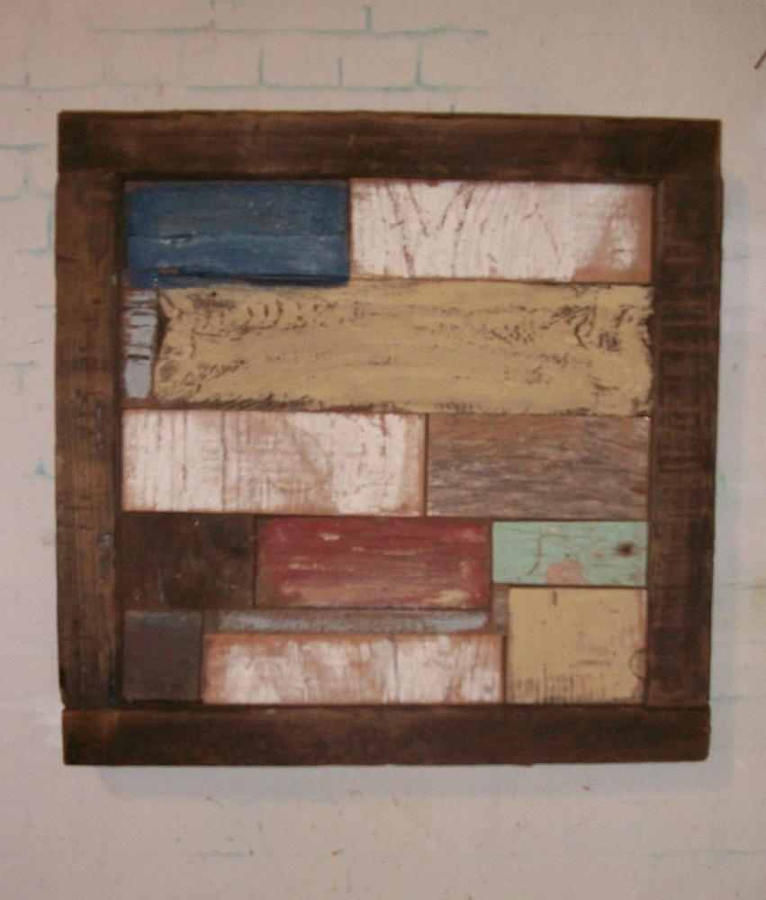 Well Liked Rustic Wall Art With Barnwood Wall Art Rustic Decor Reclaimed Wood Sculpture Ebay, Rustic (View 10 of 15)