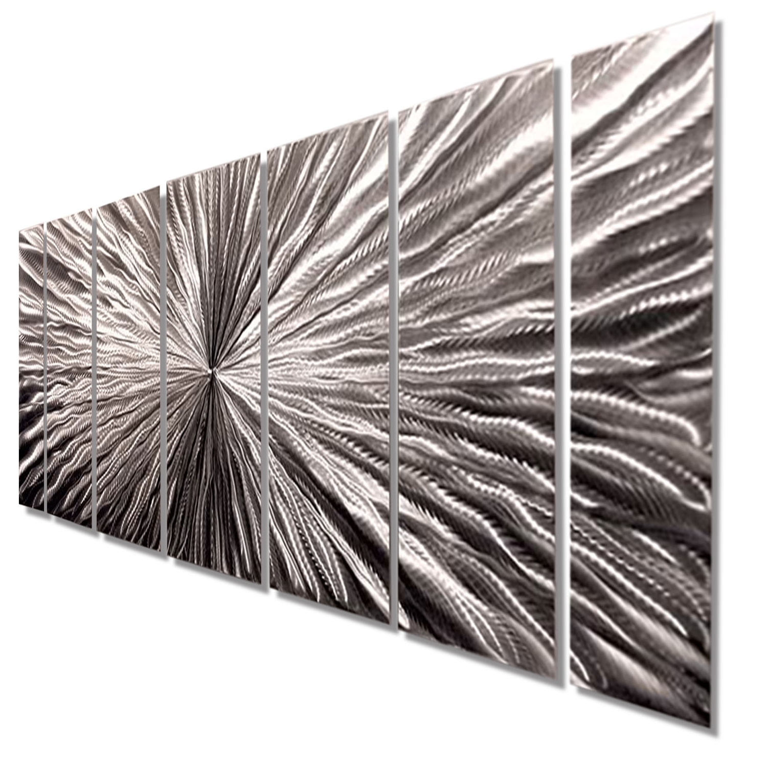 Well Liked Silver Metal Wall Art Within Radiant Velocity – Silver Contemporary Metal Wall Artjon Allen (View 6 of 20)