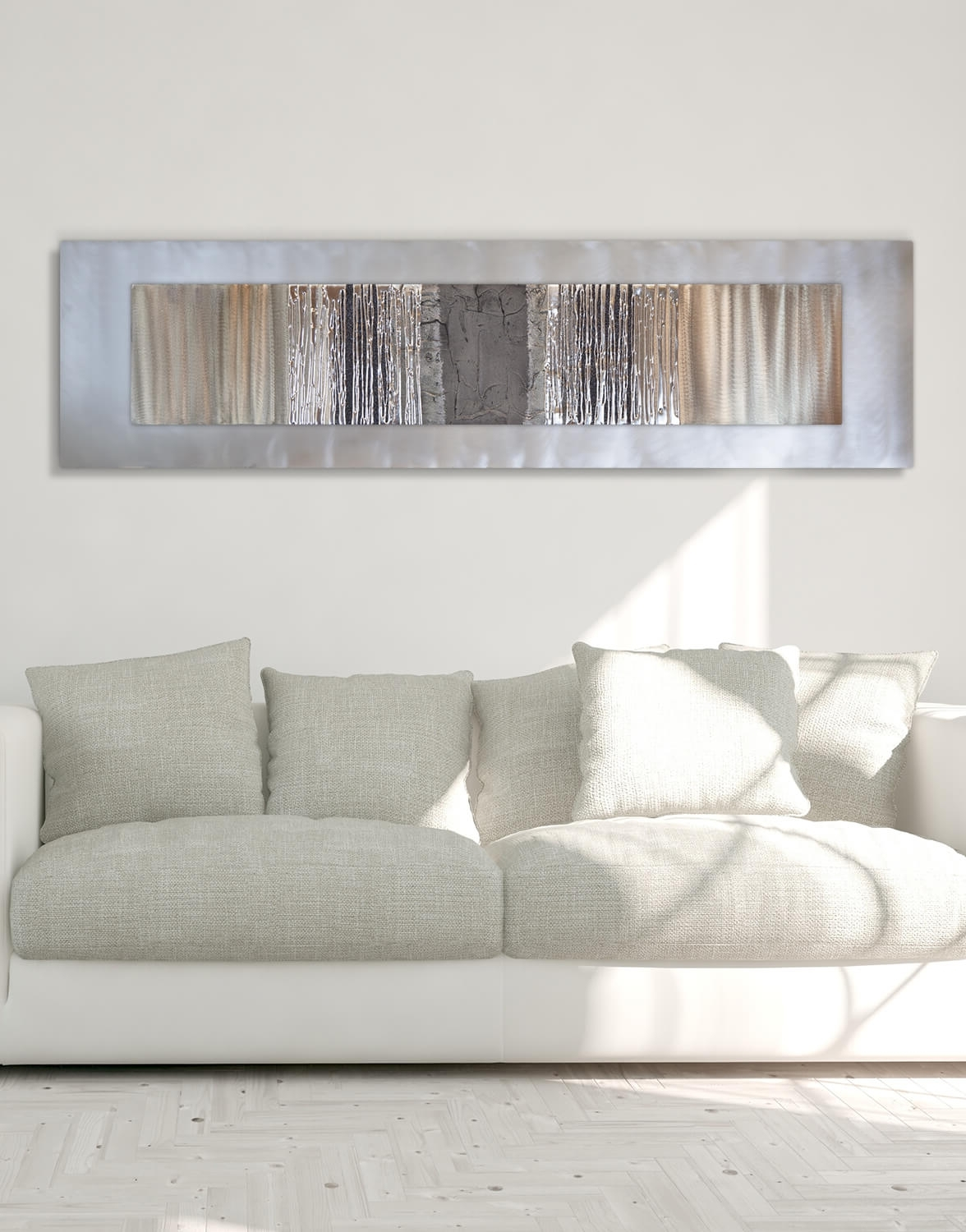 Well Liked Silver Wall Art In Echo Oak Grey – Silver Wall Art, Contemporary Art Uk (Gallery 11 of 20)