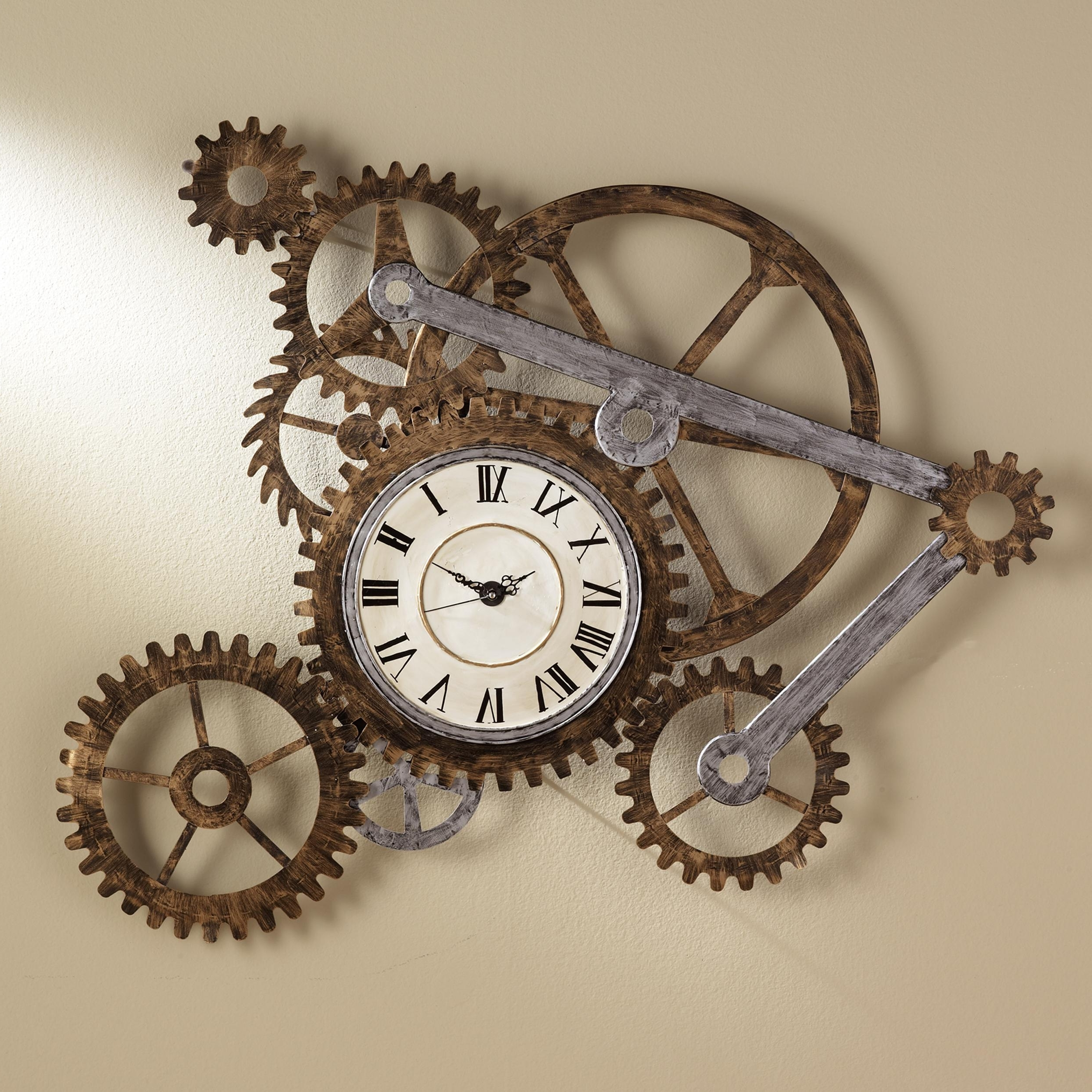 Well Liked Steampunk Wall Art Inside Amazon: Southern Enterprises Metal Gear Wall Art Clock, Hand (View 19 of 20)
