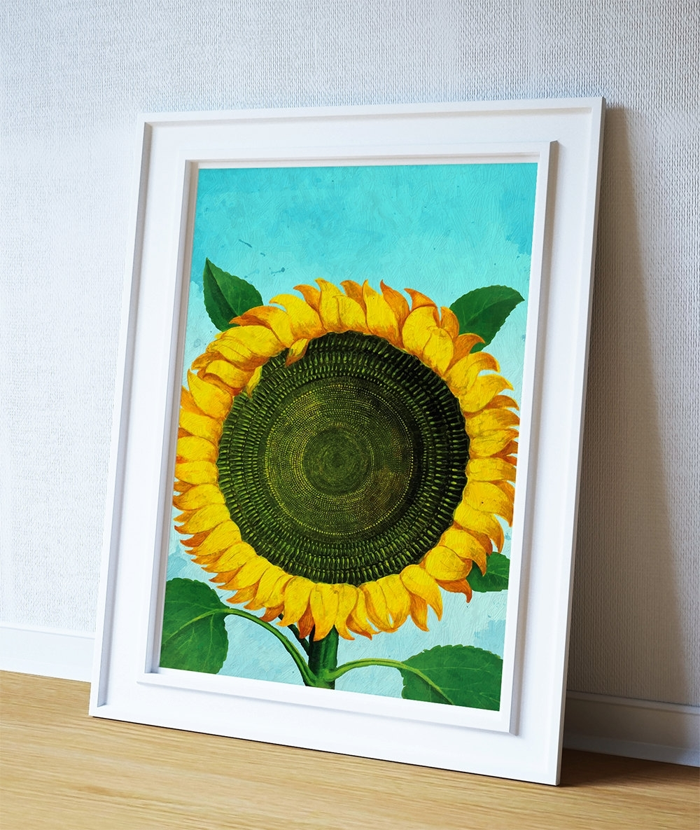 Well Liked Sunflower Print Sunflowers Art Botanical Print Flower Kitchen Decor With Regard To Sunflower Wall Art (View 20 of 20)