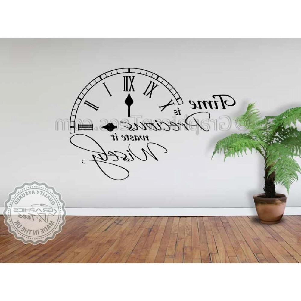 Well Liked Time Is Precious Waste It Wisely Inspirational Wall Quote Family Intended For Inspirational Wall Art (View 15 of 15)