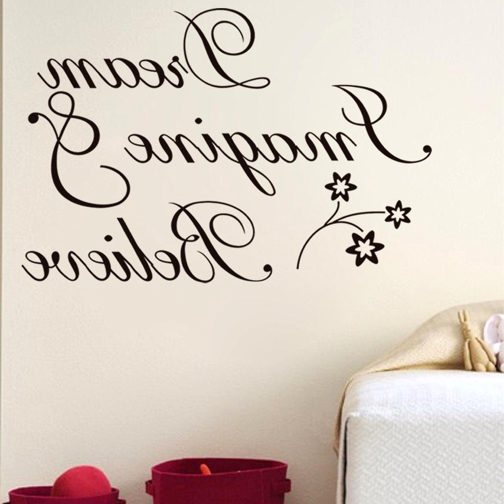 Well Liked Word Art For Walls In Delectable Outstanding Wall Decorations Goodly Art Words Stickers (Gallery 5 of 20)