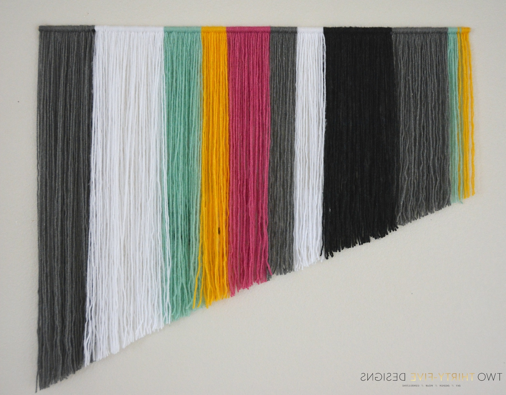Well Liked Yarn Wall Art Regarding Diy Yarn Wall Art – Two Thirty Five Designs (Gallery 3 of 20)
