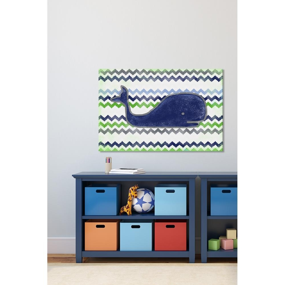 Whale Canvas Wall Art Intended For Most Popular 40 In. H X 60 In (View 9 of 20)