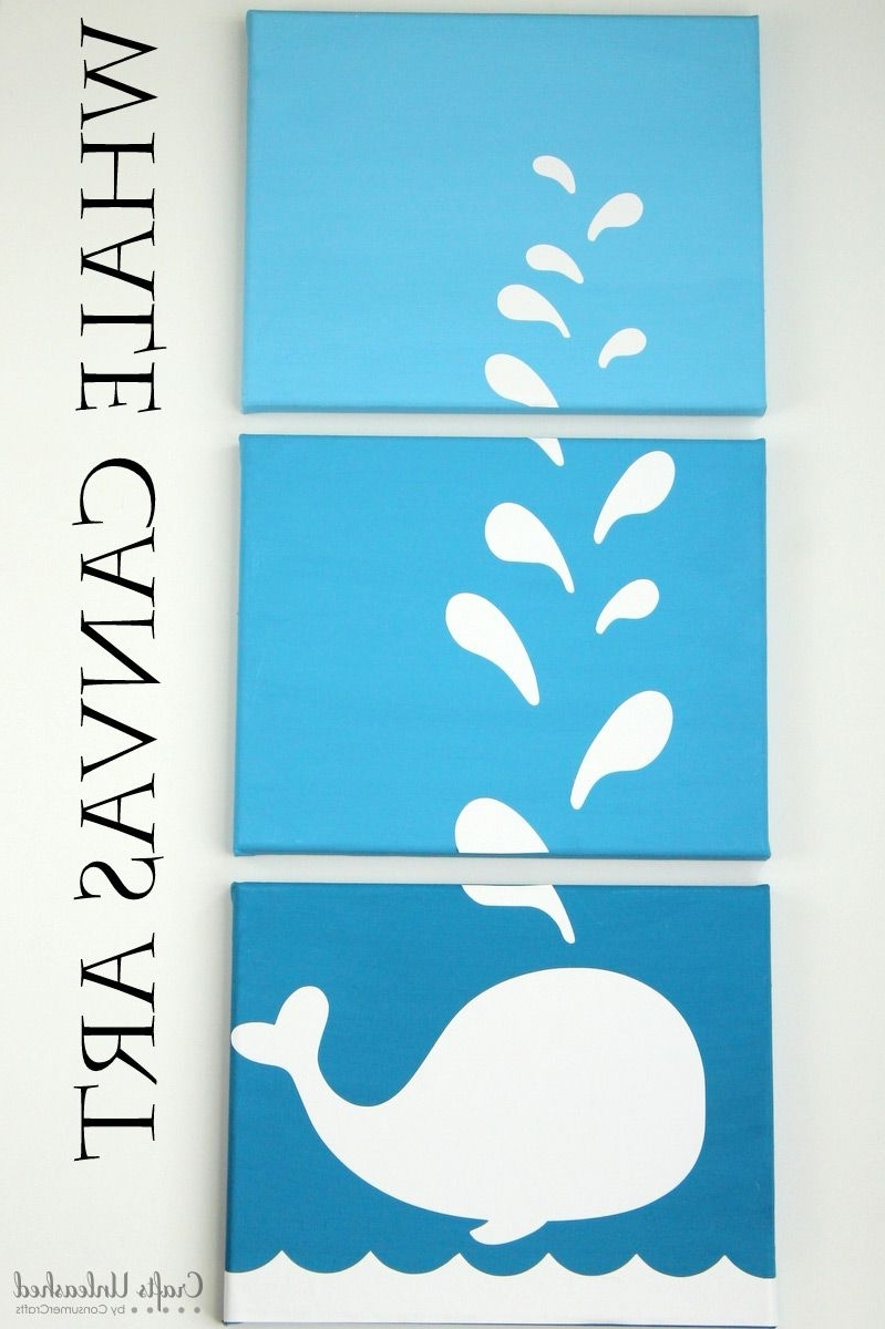Whale Canvas Wall Art Throughout Newest Diy Whale Art Canvases: Stepstep – Crafts Unleashed (View 18 of 20)