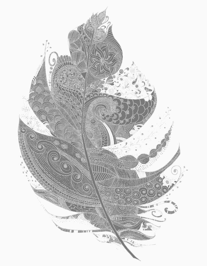 White Wall Art With Well Known Feather Art Print Illustration Black & White Wall Art Decor – Lucia (Gallery 15 of 20)