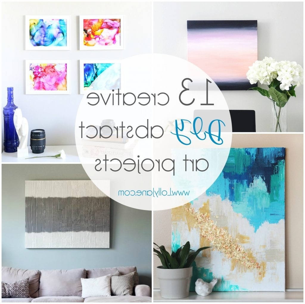 Widely Used 13 Creative Diy Abstract Wall Art Projects – Lolly Jane Regarding Diy Wall Art Projects (Gallery 3 of 20)