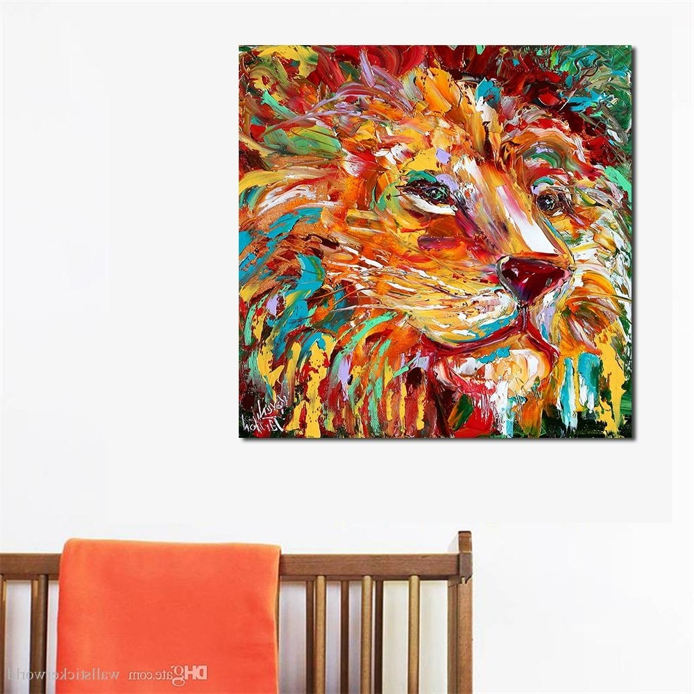 Widely Used 2018 The Colorful Lion King Painting Wall Art Home Decor Modern Throughout Lion King Wall Art (View 20 of 20)