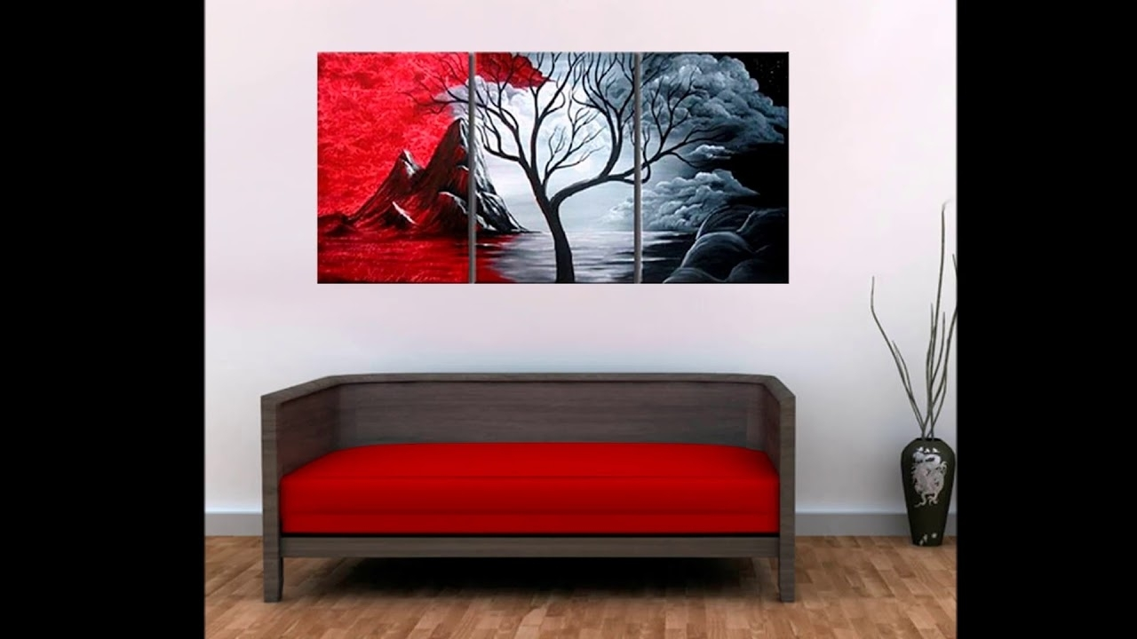 Widely Used 3 Piece Canvas Wall Art Inside Modern Abstract Painting Wall Decor Landscape Canvas Wall Art  (View 20 of 20)