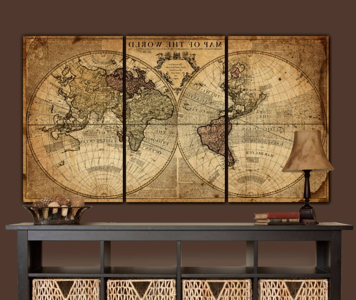 Widely Used Best Collection Of Large World Map Wall Art And Framed Maps The With Regard To Cool Map Wall Art (View 18 of 20)