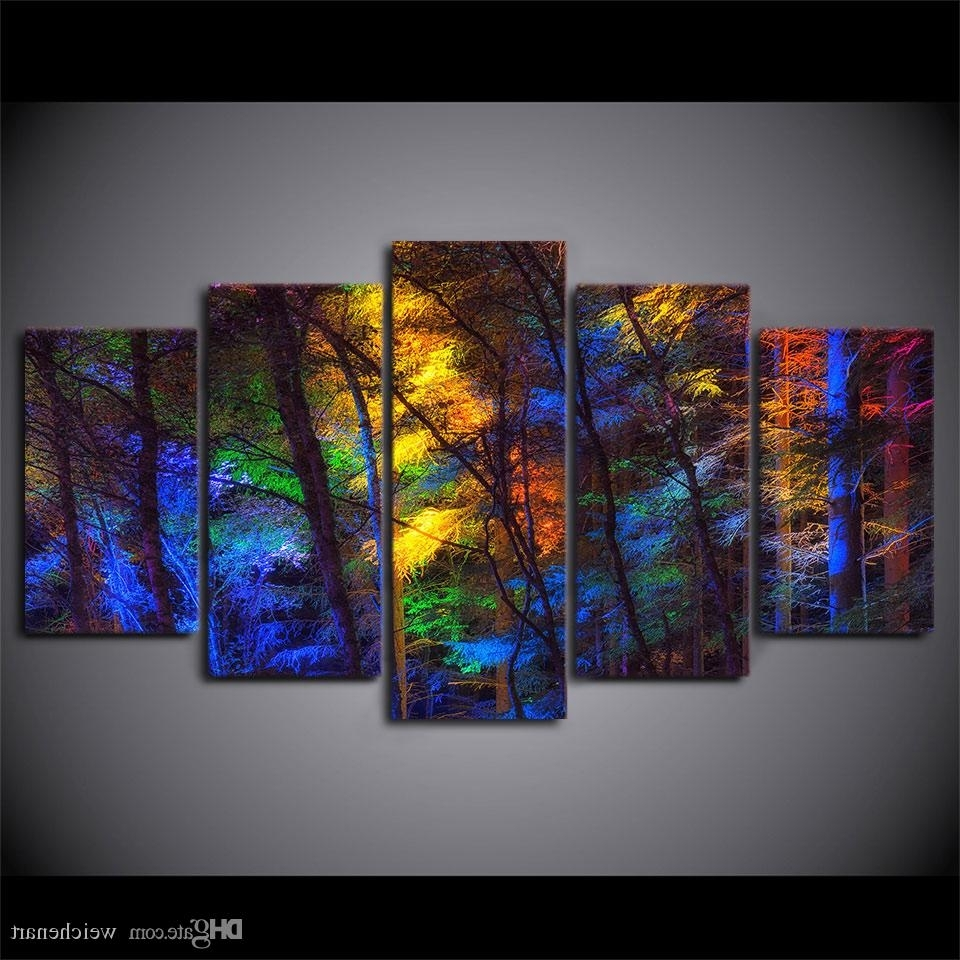 Widely Used Best Framed Hd Printed Colorful Forest Tree Picture Wall Art Canvas Regarding Modern Framed Wall Art Canvas (View 20 of 20)
