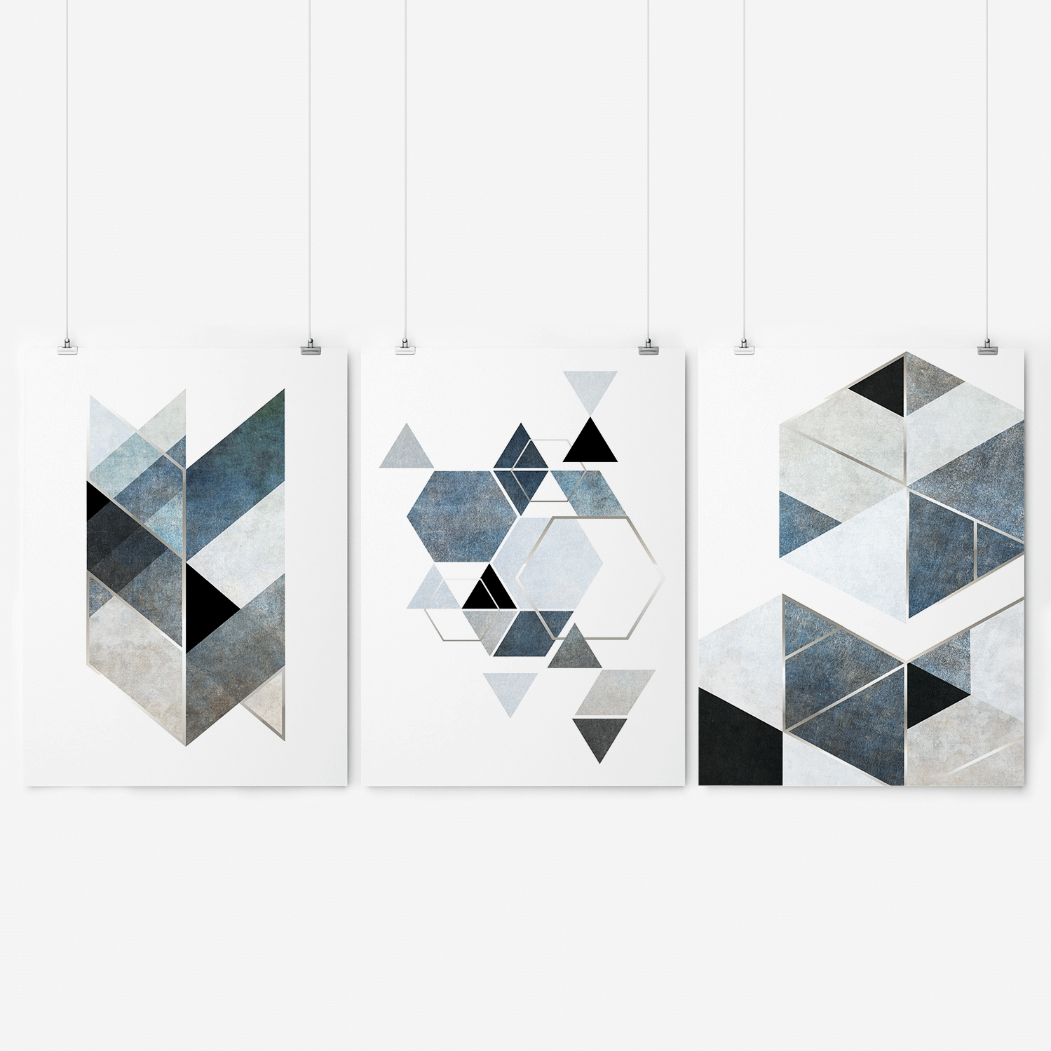 Widely Used Black And White Geometric Wall Art (Gallery 18 of 20)
