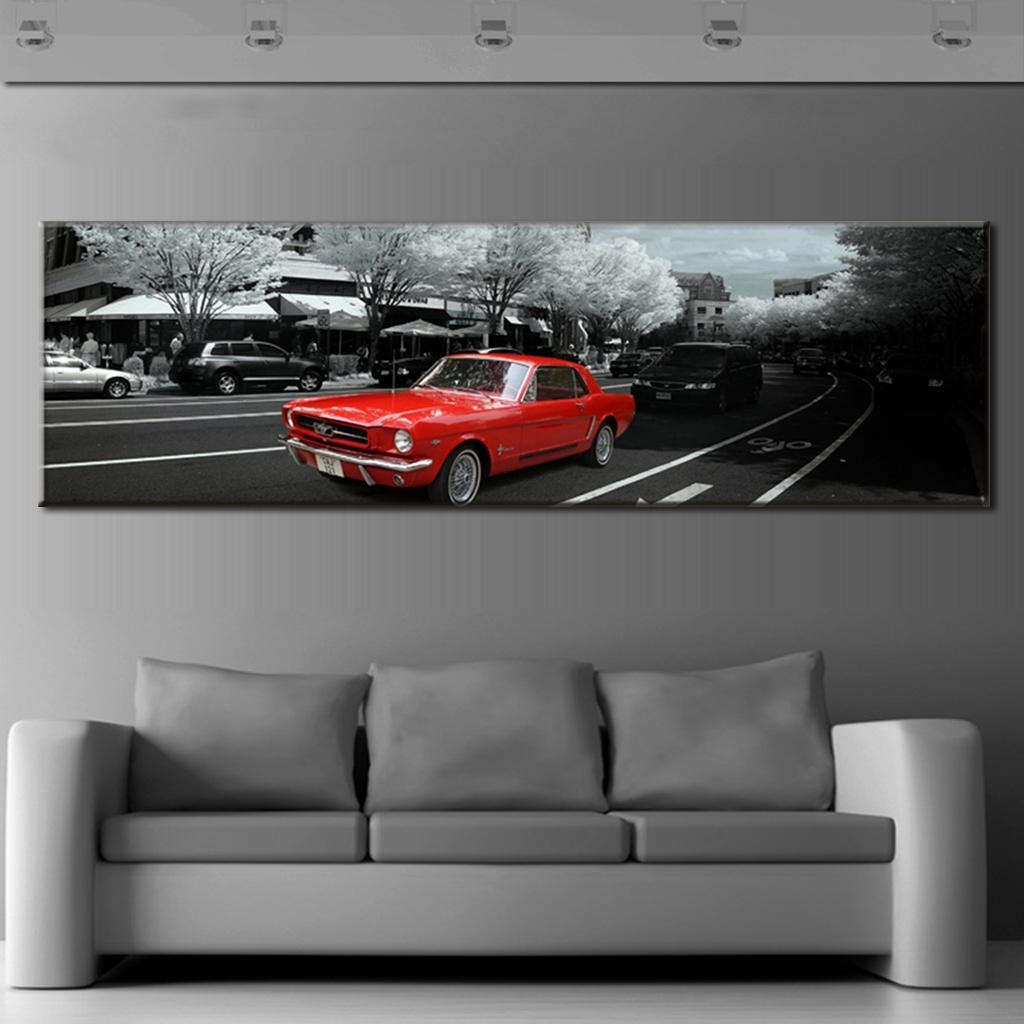 Widely Used Car Canvas Wall Art In Modern Wall Paintings The City Red Car Canvas Prints Wall Art Large (View 20 of 20)