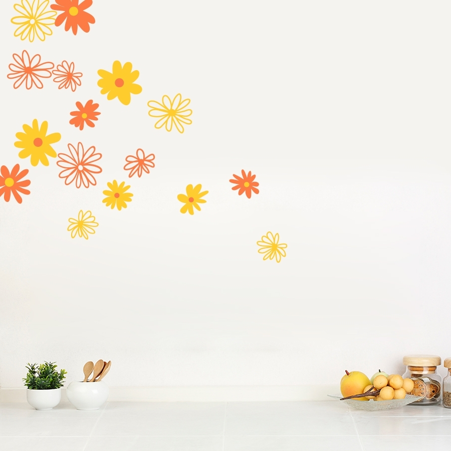 Widely Used Daisy Wall Decals (Gallery 3 of 20)