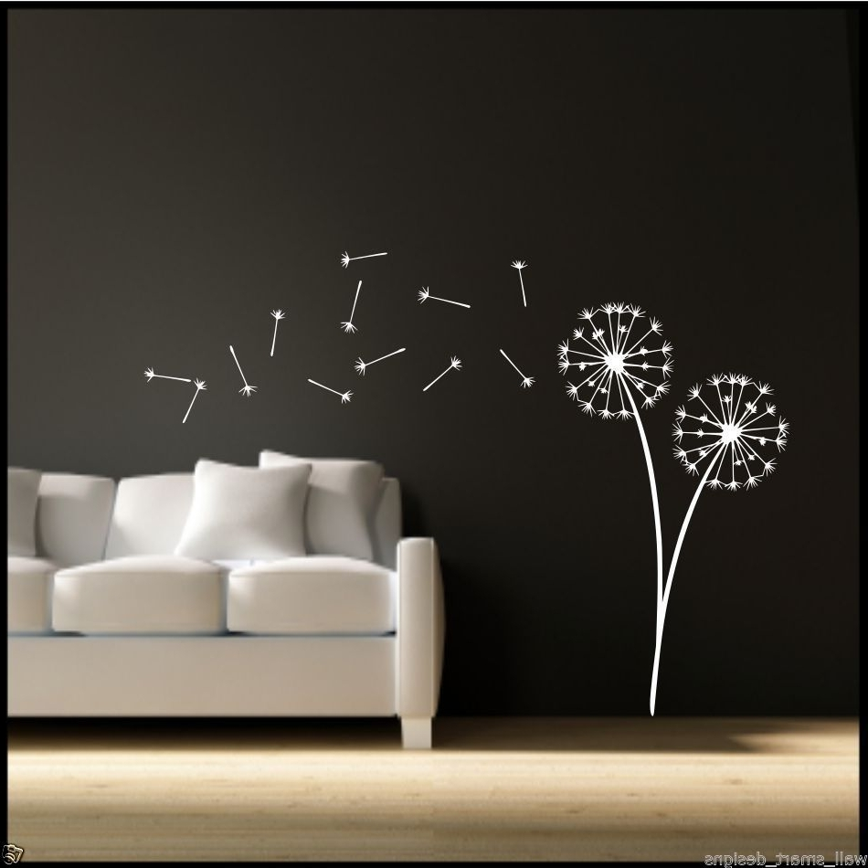 Widely Used Dandelion Wall Art In Dandelion Clock Seeds Wall Decal Sticker Transfer Stencil Mural Art (View 19 of 20)
