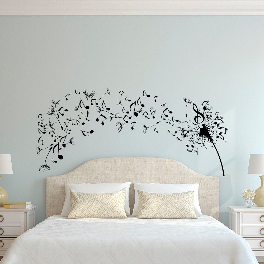 Widely Used Dandelion Wall Art Regarding Dandelion Wall Decal Bedroom  Music Note Wall Decal Dandelion Wall (View 20 of 20)