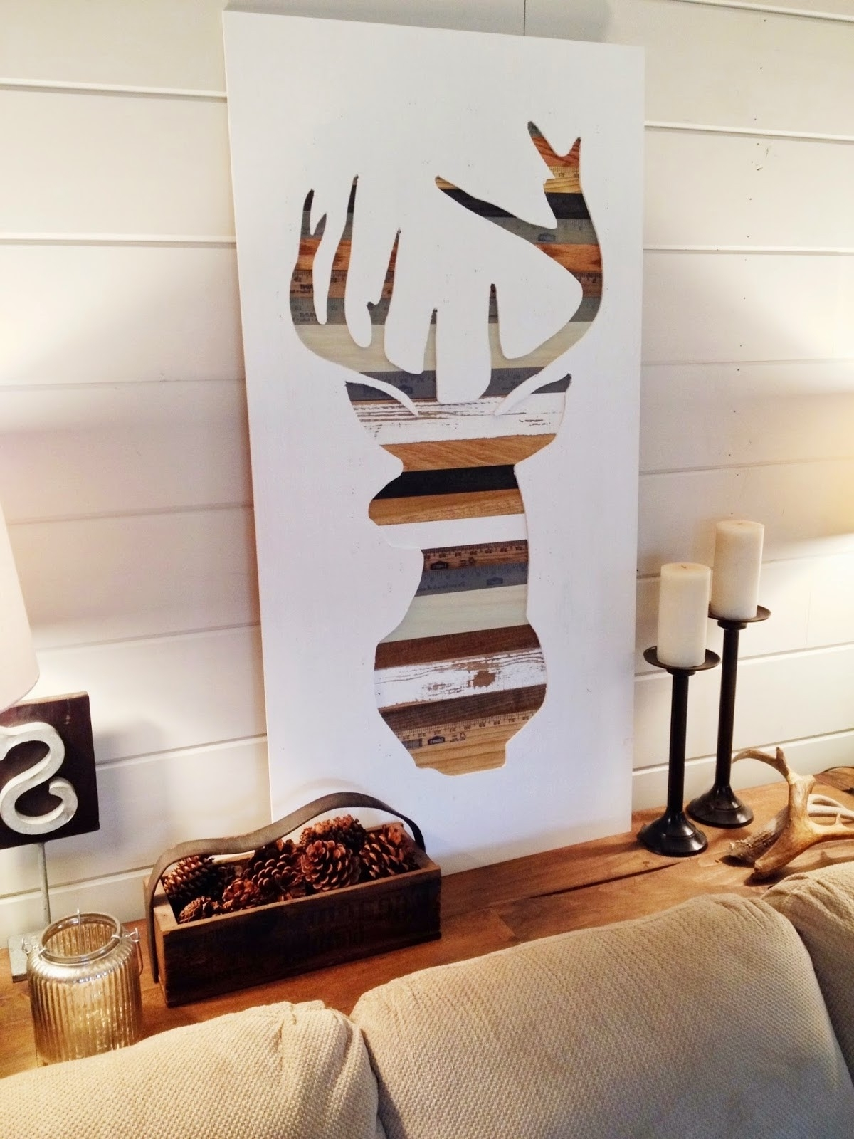 Widely Used Diy Wood Wall Art Inside Deer Silhouette Wall Art All Wood Decor Diy – Jumpstartcoffee (View 18 of 20)