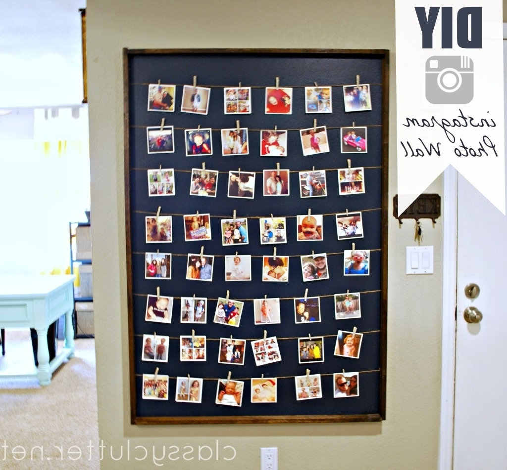 Widely Used Instagram Wall Art Regarding Diy Instagram Photo Wall Display (View 20 of 20)