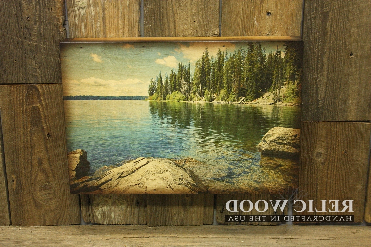 Widely Used Lake House Wall Art Within Charming Idea Lake Wall Art Modern Home Pretty Mountain Trees In (Gallery 15 of 15)