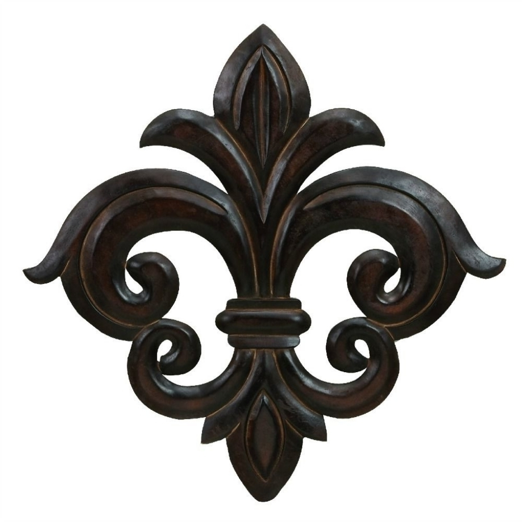 Widely Used Large Wall Art French Quarter Fleur De Lis Sculpture Accent Decor For Fleur De Lis Wall Art (View 12 of 20)