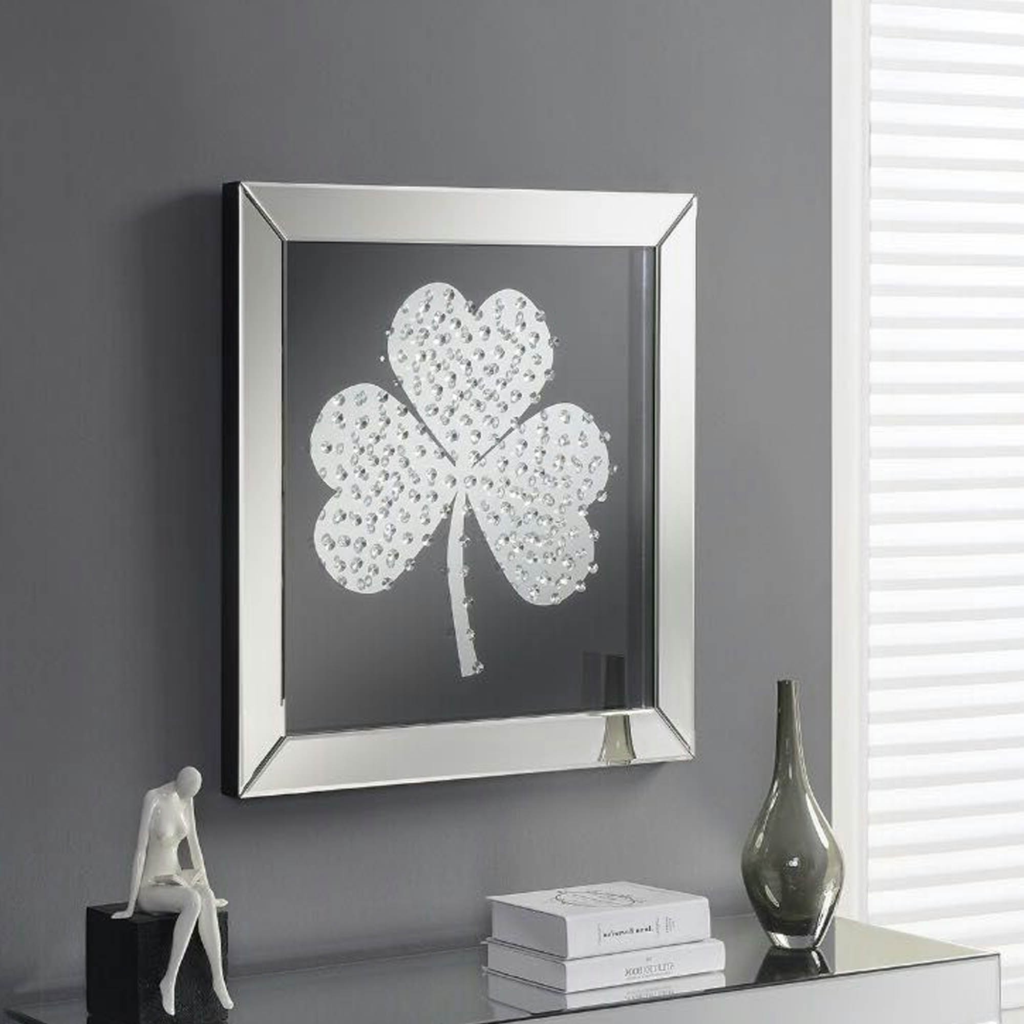 Widely Used Mirrored Wall Art Regarding Shamrock Mirrored Wall Art (View 19 of 20)
