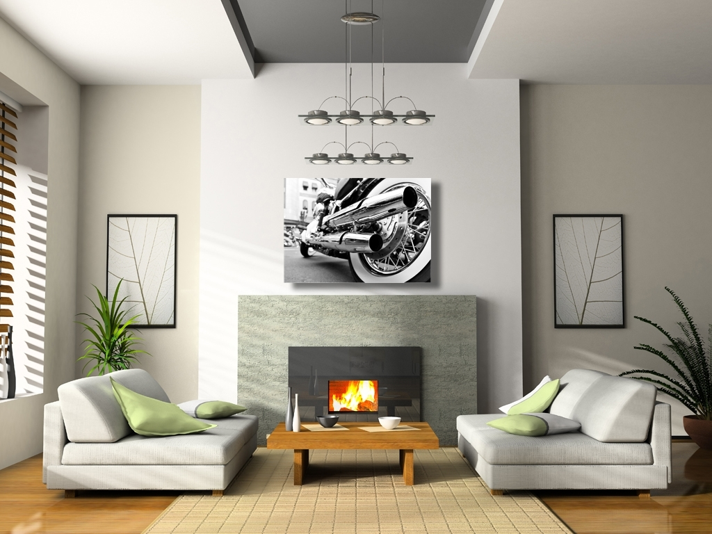 Widely Used Motorcycle Chrome Pipes Canvas Wall Art Pertaining To Motorcycle Wall Art (View 20 of 20)