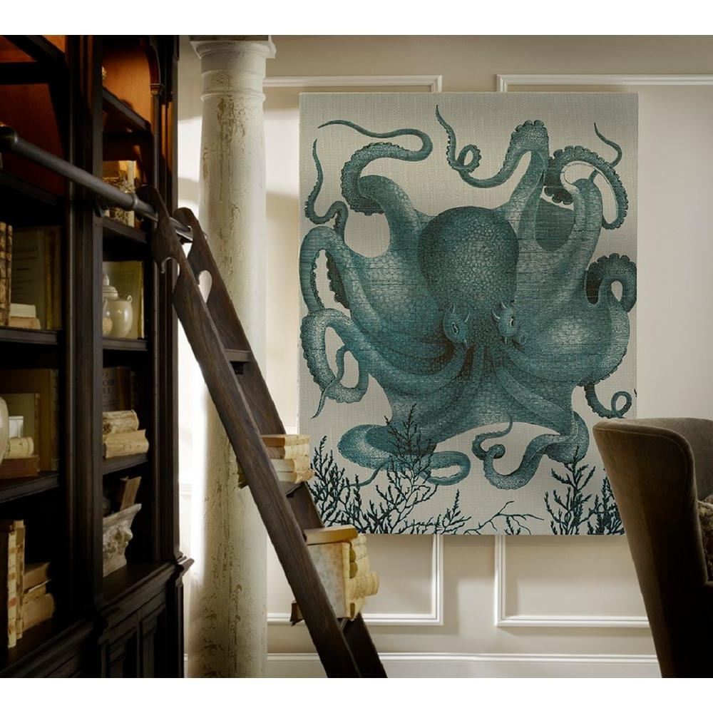 Widely Used Octopus Wall Art Within 40 In. X 29 In. Octopus Iii Blue Small Splash Works Printed (Gallery 12 of 20)