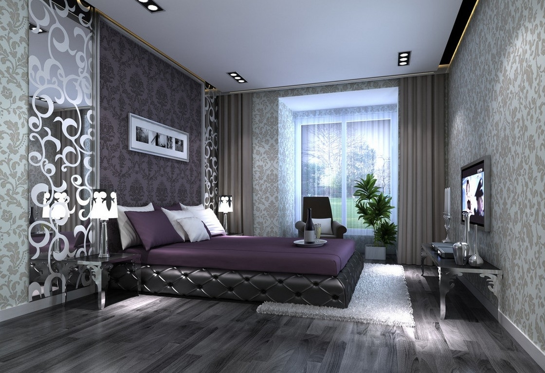 Widely Used Purple And Grey Wall Art With Regard To Uncategorized : Bedroom Purple Room Color Scheme And Grey Decorative (View 20 of 20)