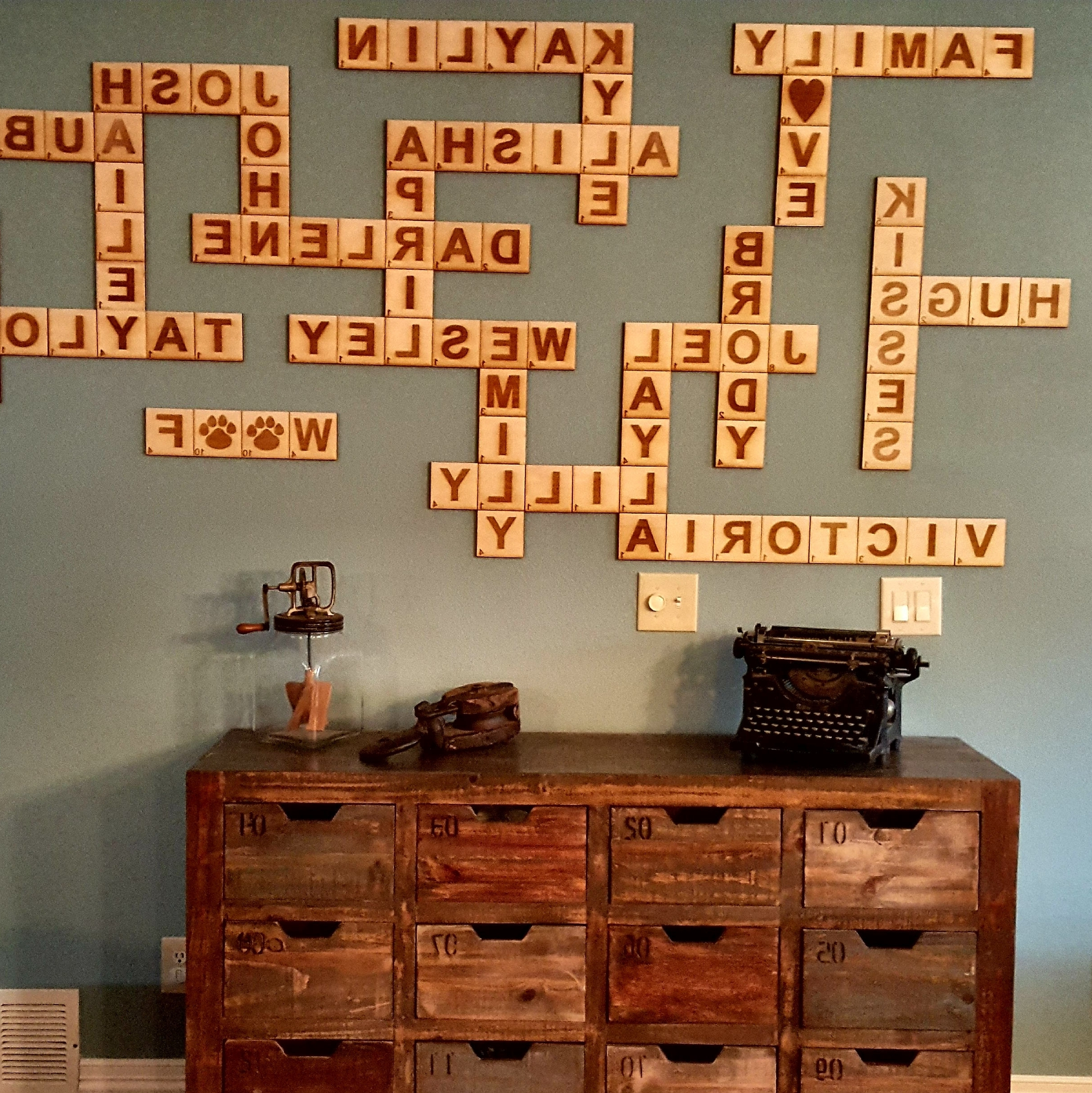 Widely Used Scrabble Wall Art Within Scrabble Wall Tiles, Scrabble Letters, Scrabble Tiles, Scrabble Wall (View 20 of 20)