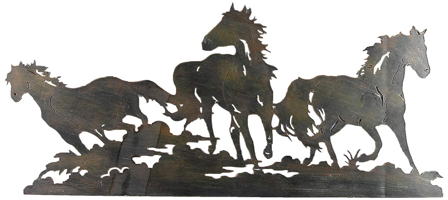 Widely Used Triple Horse Metal Wall Art Young Laser Cut  (View 20 of 20)