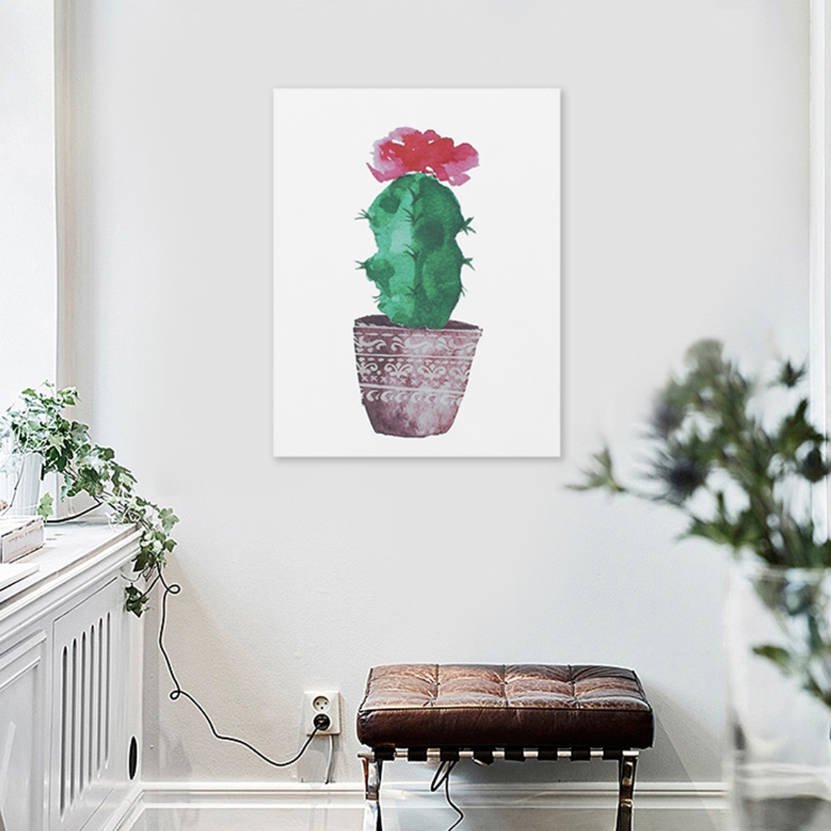Widely Used Watercolor Canvas Cactus Painting Print Picture Modern Home Wall Art Within Cactus Wall Art (View 20 of 20)