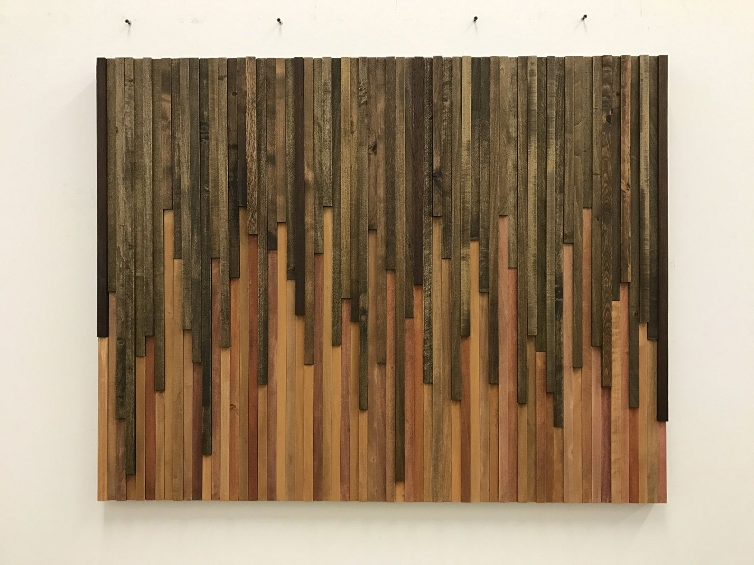 Widely Used Wood Art Wall Pertaining To Wood Wall Art – Reclaimed Wood Art Sculpture Made To Order: New Drip (View 16 of 20)