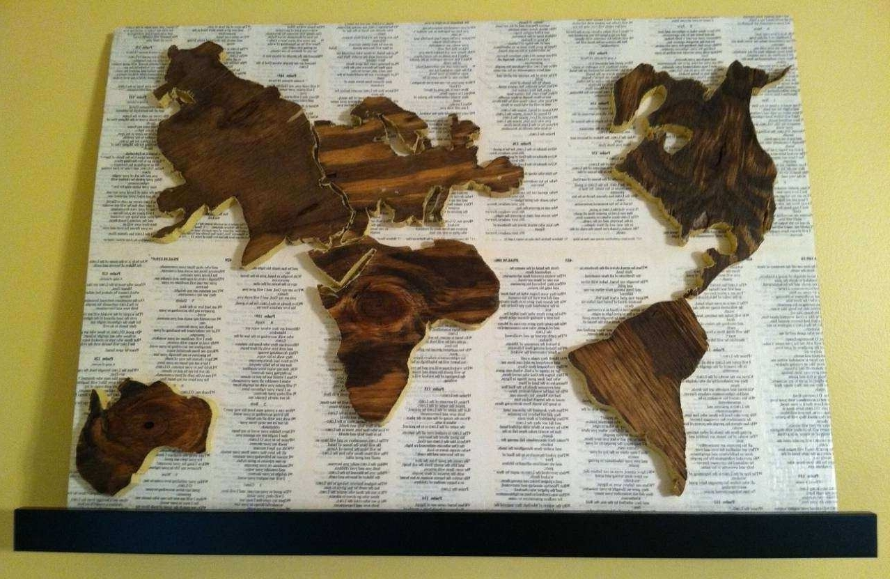 Widely Used Wood Map Wall Art Inside Wood Map Wall Art Unique 20 Ideas Of Wood Map Wall Art (View 13 of 20)