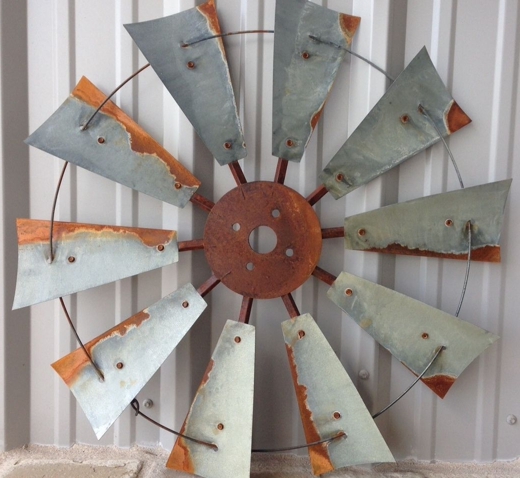 Windmill Wall Art Regarding 2017 Windmill Decor, Rustic Windmill Heads, Old Windmill Heads, Old (View 17 of 20)