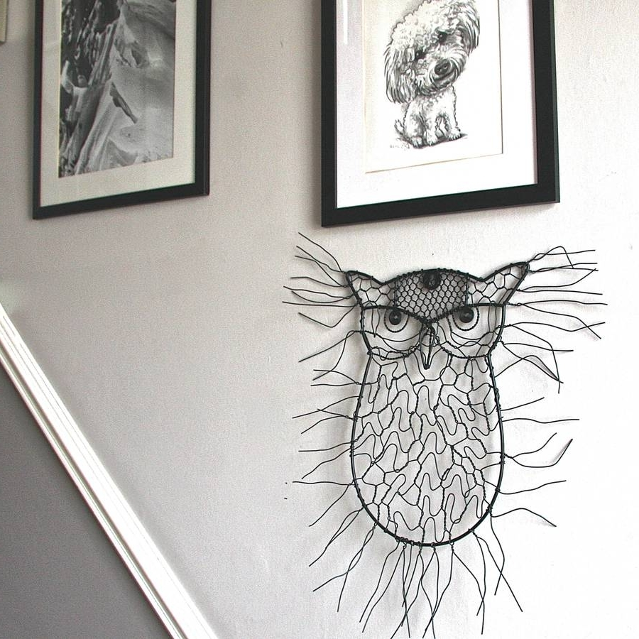 Wire Wall Art Pertaining To Well Known Sitting Owl Wire Garden Wall Artlondon Garden Trading (View 18 of 20)