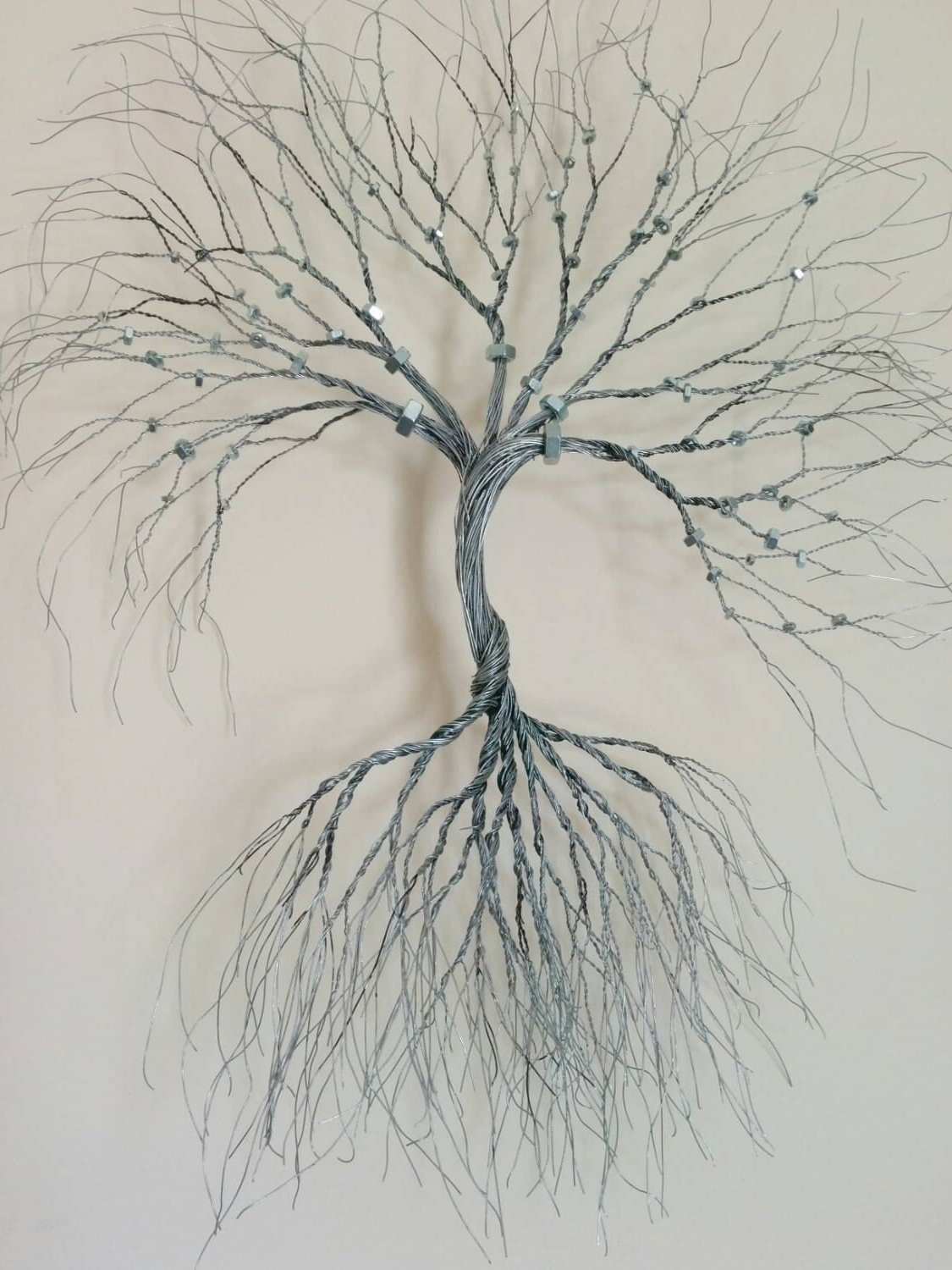 Wire Wall Art With Current Silver Wire Wall Art Tree Of Life Wall Decoration Decorative  Wire (View 20 of 20)
