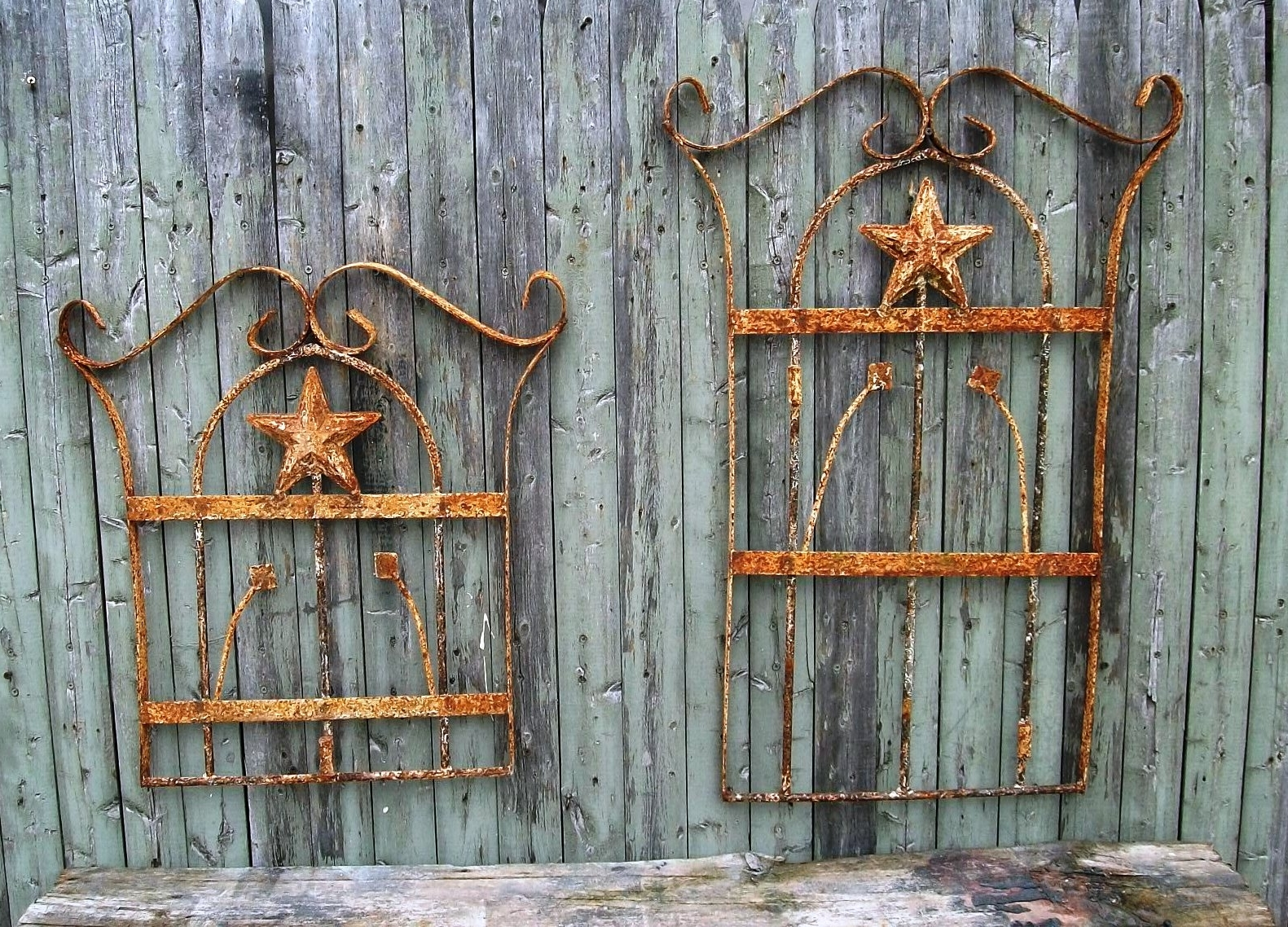 Wood And Metal Wall Art With Recent Rustic Tal Wall Sun Indoor Outdoor Wrought Iron Living Room Rod (Gallery 18 of 20)
