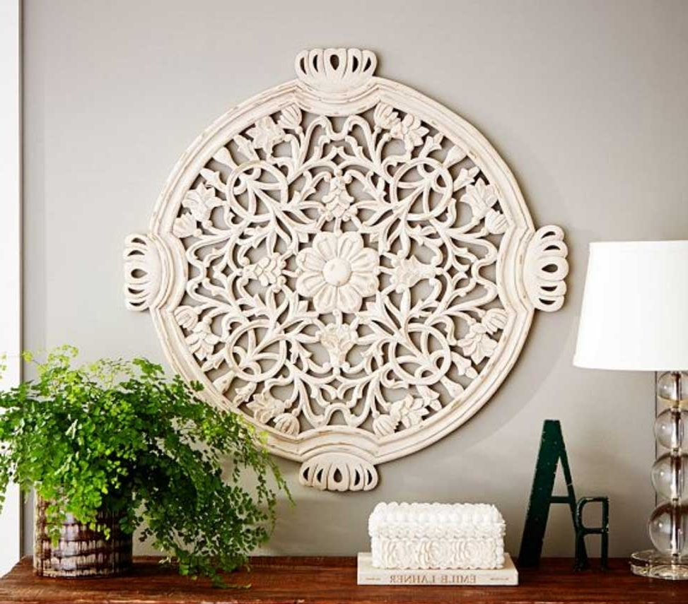 Wood Medallion Wall Art Wood Medallion Wall Art Floral Carved (Gallery 14 of 20)