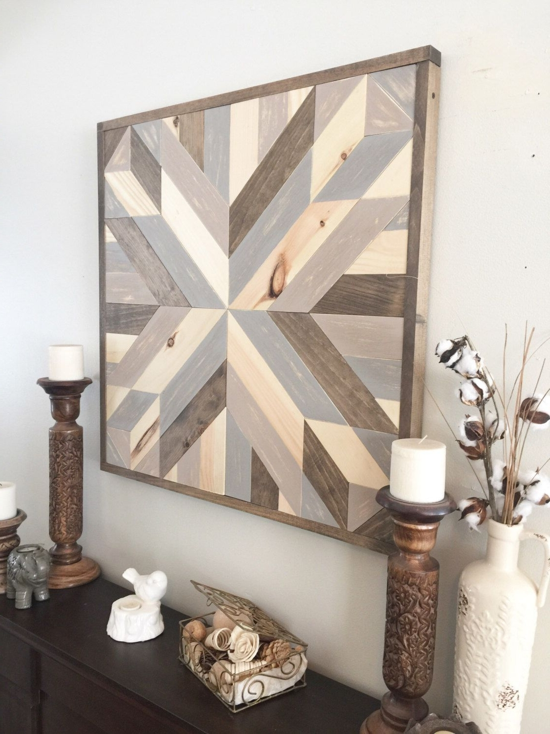 Wood Wall Art, Geometric Art, Boho Decor, Aztec Decor, Farmhouse With Regard To Well Known Rustic Wall Art (View 15 of 15)