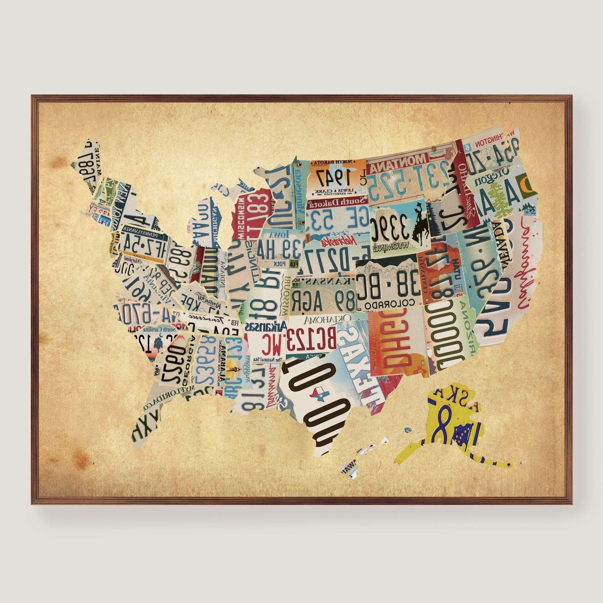 Wooden Wall Hanging Map Of Us Wooden Usa Map Wall Art Delightful Pertaining To Current Usa Map Wall Art (View 20 of 20)