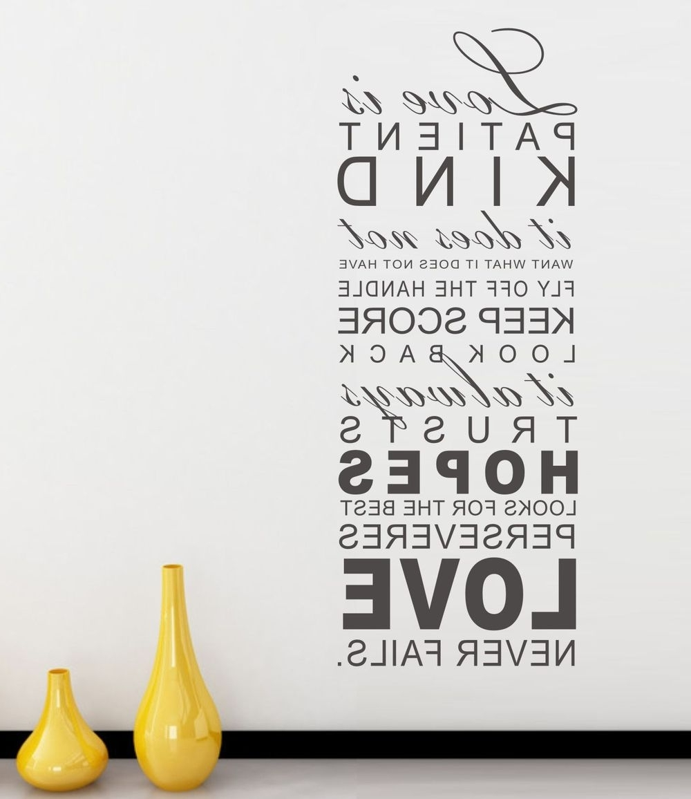 Word Wall Art With Popular Love Is Patient Fresh Wall Word Art – Wall Decoration Ideas (Gallery 5 of 20)