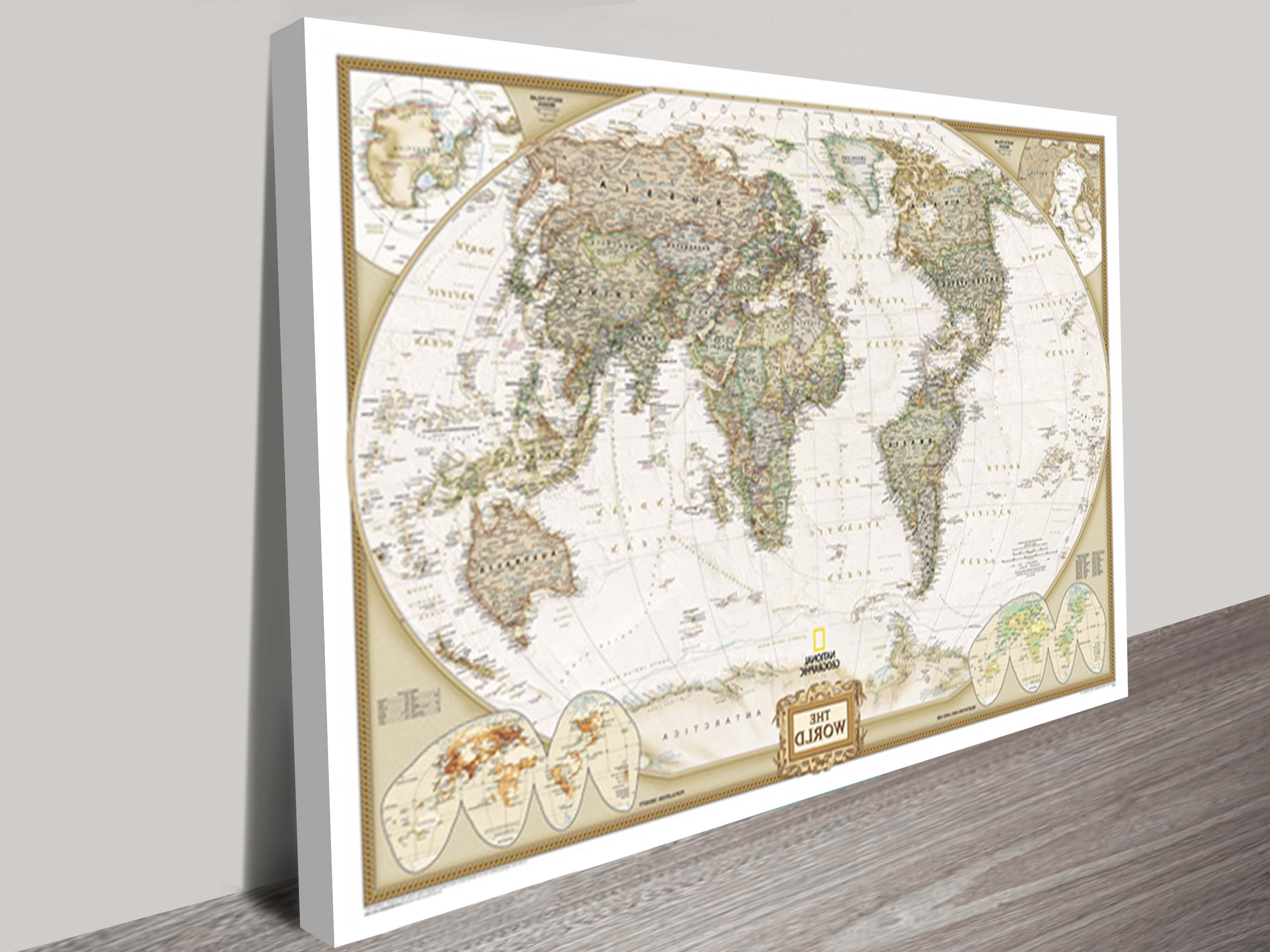World Map Canvas Wall Art (Gallery 4 of 20)
