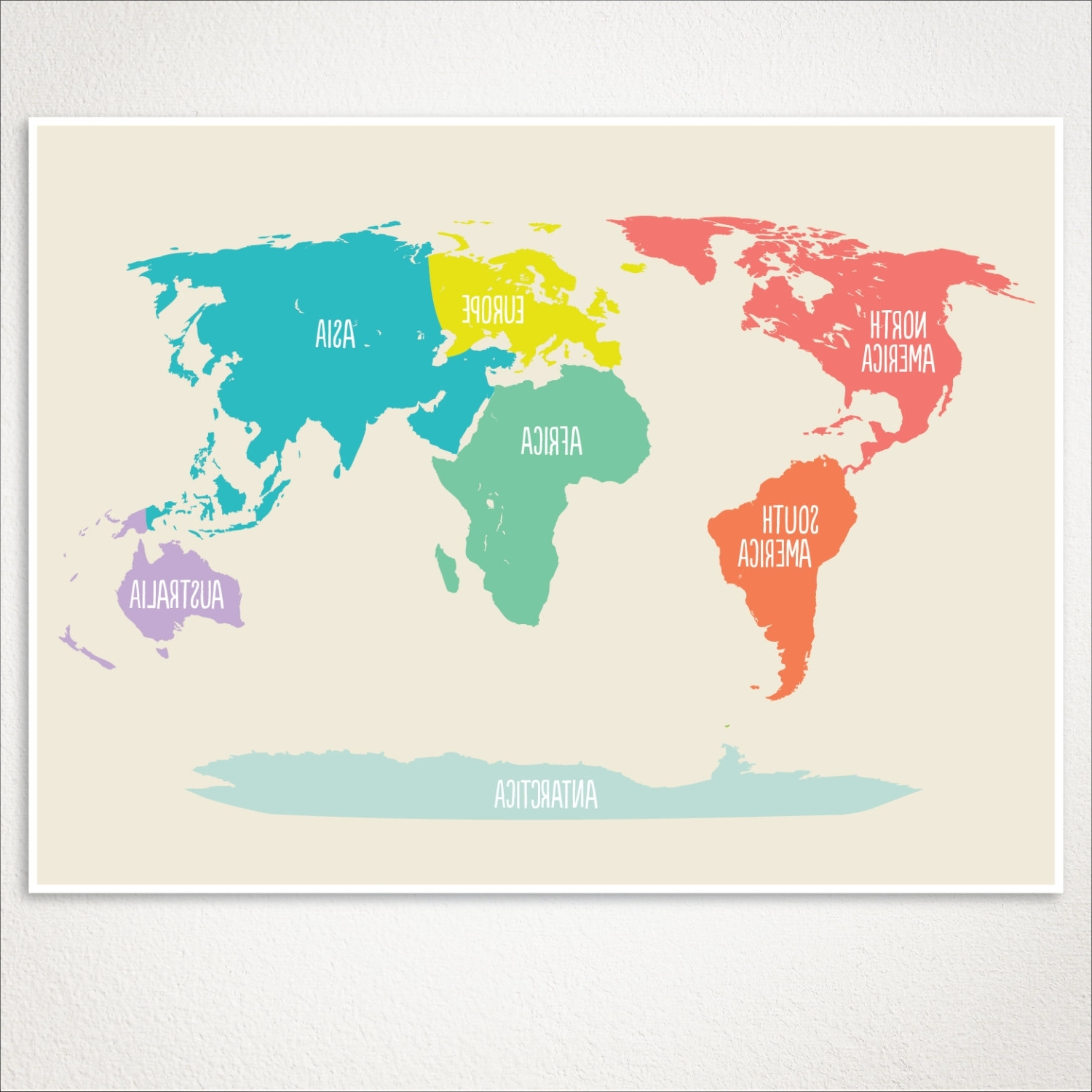 World Map Kids Nursery Room Decor Baby Art Playroom At Poster For Most Current World Map Wall Art For Kids (View 17 of 20)