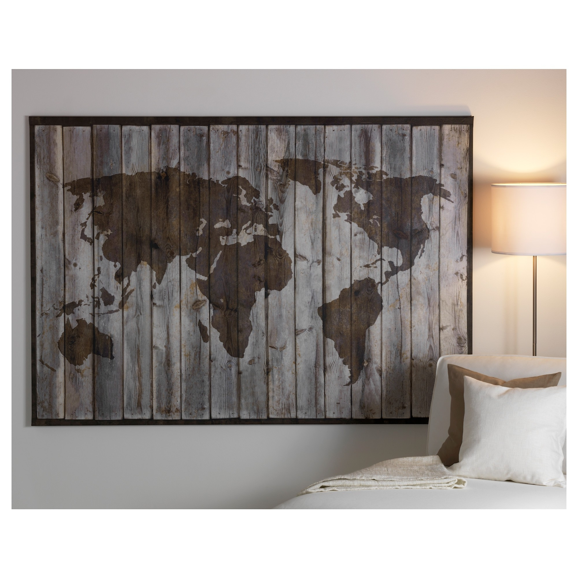 World Map Poster Ebay Best Posters Wall Art Ikea World Map Canvas Within Favorite Ikea Wall Art (View 15 of 15)